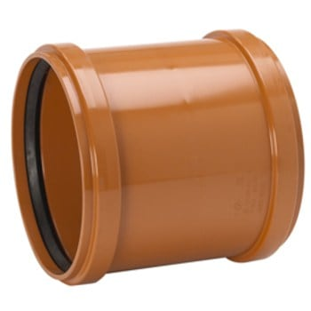 PVC 160mm Dubbelmuff