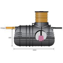 Wavin Slamavskiljare 2m3 ink pump