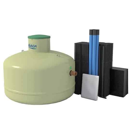 markgrossen baga slamavskiljare 2 2 o biomoduls paket - BAGA Effektiv Slamavskiljare + Biomodulpaket