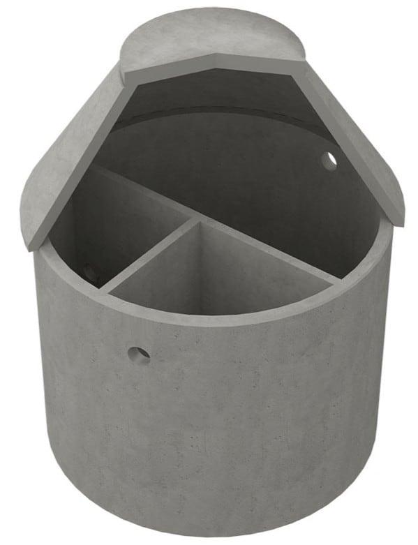 Tranås Trekammarbrunn i betong
